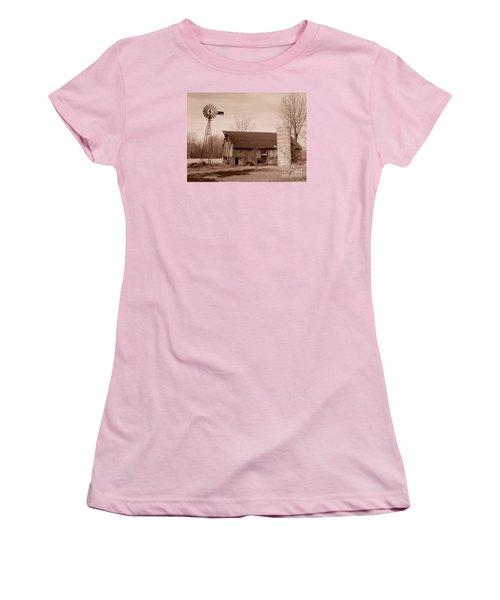 Forgotten Farm Women's T-Shirt (Junior Cut) by Judy Whitton