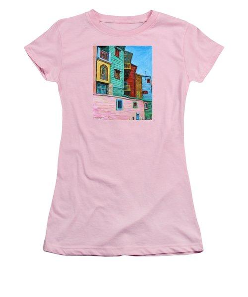 Geometric Colours II Women's T-Shirt (Junior Cut) by Xueling Zou