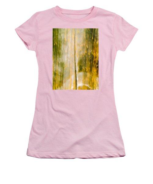 Golden Falls  Women's T-Shirt (Junior Cut) by Bill Gallagher