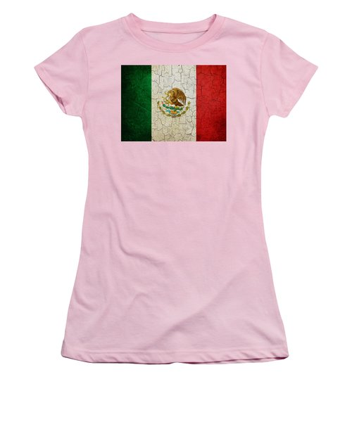 Grunge Mexico Flag Women's T-Shirt (Athletic Fit)