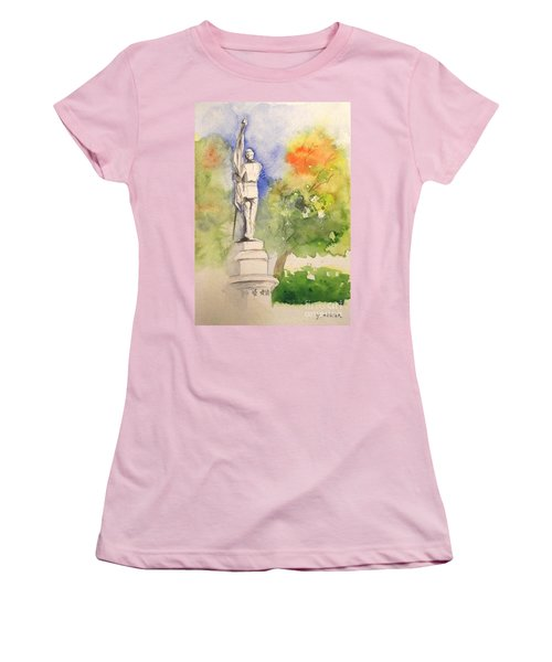 Highland Cemetery-plein Air-ypsilanti Michigan 1 Women's T-Shirt (Athletic Fit)