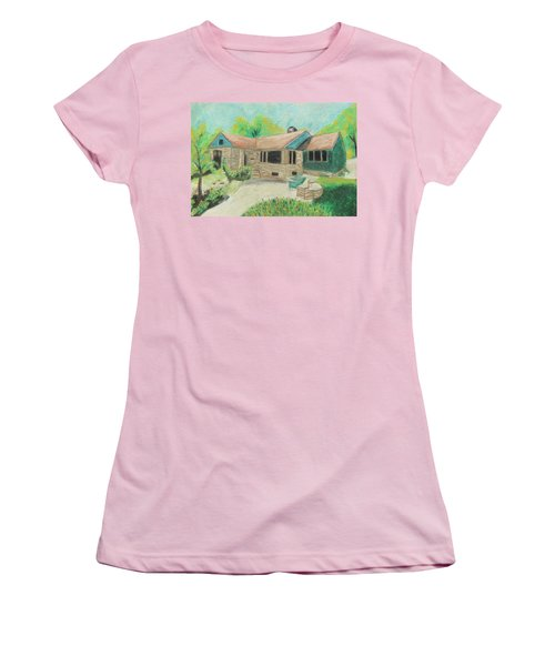 Women's T-Shirt (Junior Cut) featuring the painting Home Sweet Home by Jeanne Fischer