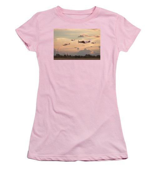 Home To Roost Women's T-Shirt (Junior Cut) by Pat Speirs