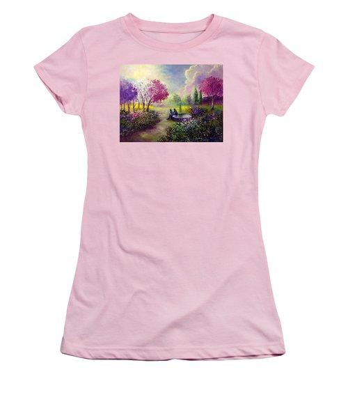 In Heaven Everything Is Fine Women's T-Shirt (Junior Cut) by Randy Burns