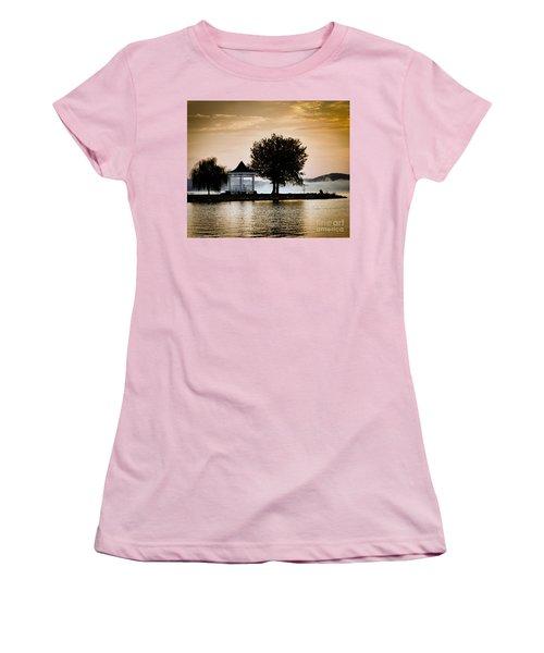Women's T-Shirt (Junior Cut) featuring the photograph Just Before Sunrise by Kerri Farley