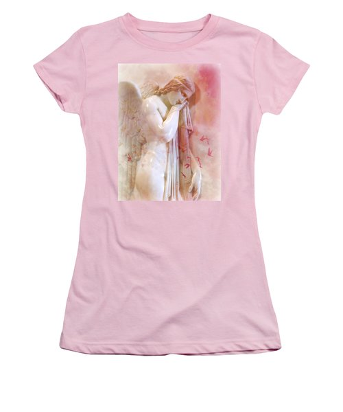 Women's T-Shirt (Junior Cut) featuring the photograph L'angelo Celeste by Micki Findlay