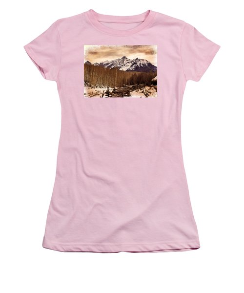 Last Dollar Road Winter Women's T-Shirt (Athletic Fit)