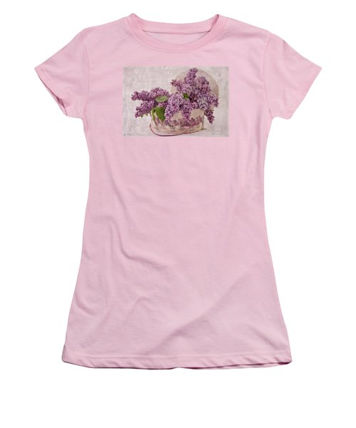 Women's T-Shirt (Junior Cut) featuring the photograph Lilacs In The Box by Sandra Foster