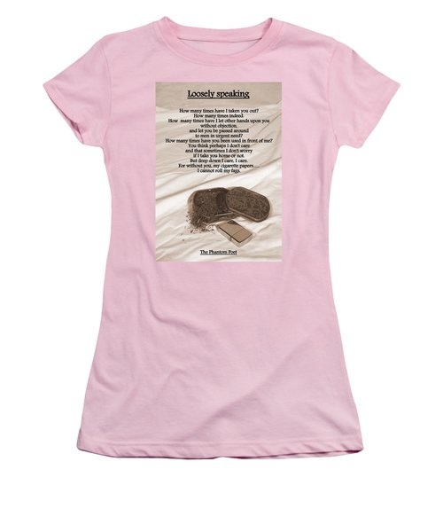 Loosely Speaking Women's T-Shirt (Athletic Fit)