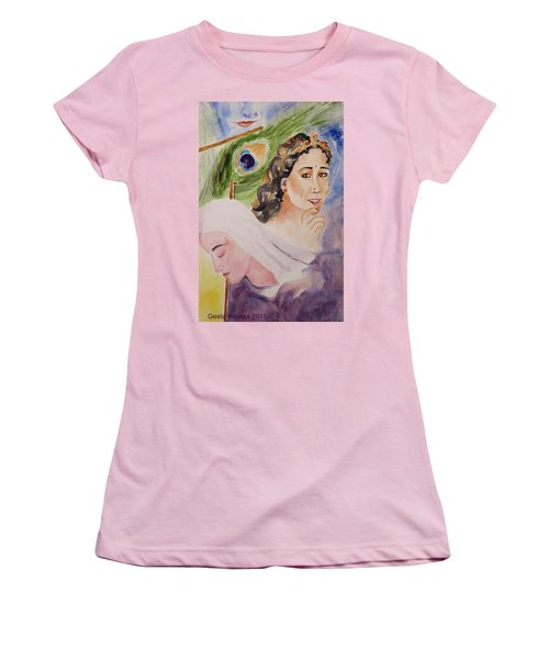 Love And Devotion Women's T-Shirt (Junior Cut) by Geeta Biswas