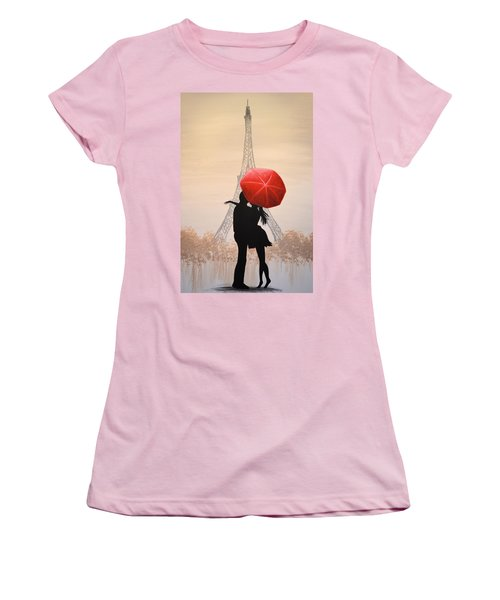 Love In Paris Women's T-Shirt (Junior Cut) by Amy Giacomelli