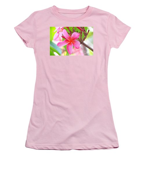 Women's T-Shirt (Junior Cut) featuring the photograph Lovely Plumeria by David Lawson