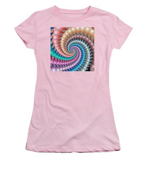 Mandelbrot Fractal Spyral Women's T-Shirt (Athletic Fit)