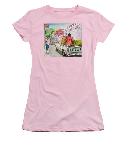 Marigot St. Martin Women's T-Shirt (Junior Cut) by Frank Hunter