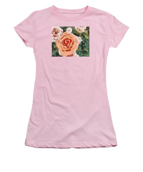Alameda Meyers House Garden Klimt Rose Women's T-Shirt (Athletic Fit)