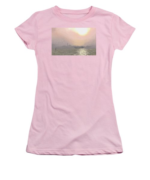 Misty Lagoona 34 X 47 Women's T-Shirt (Athletic Fit)