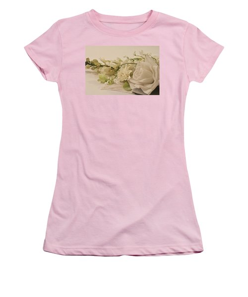 Women's T-Shirt (Junior Cut) featuring the photograph Many White Flowers  by Sandra Foster