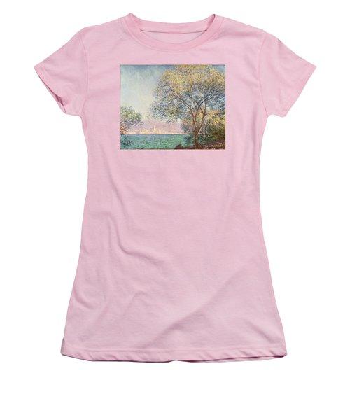 Morning At Antibes Women's T-Shirt (Junior Cut) by Claude Monet