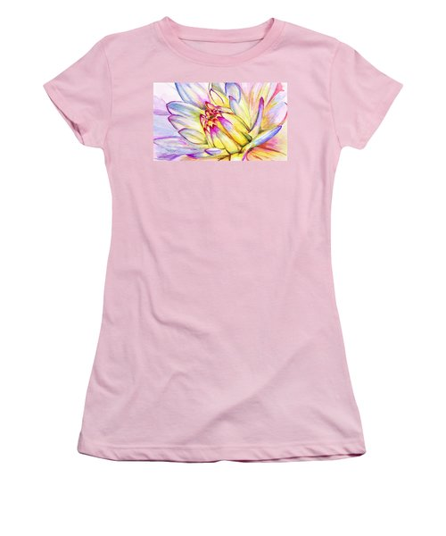 Morning Flower Women's T-Shirt (Junior Cut) by Janet Garcia