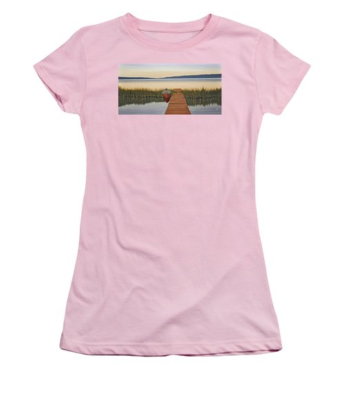 Women's T-Shirt (Junior Cut) featuring the painting Morning Has Broken by Kenneth M  Kirsch