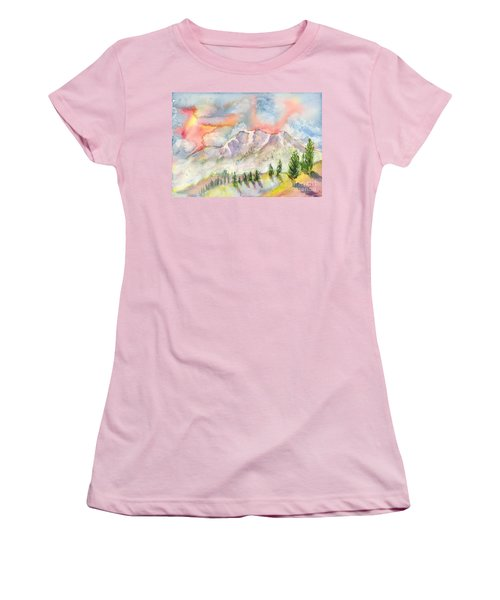 Mountain Sunset Women's T-Shirt (Athletic Fit)