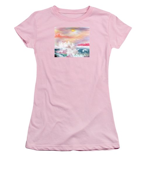 Women's T-Shirt (Junior Cut) featuring the painting My Heaven by Lori  Lovetere