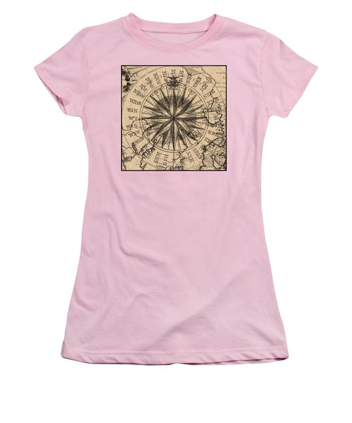 Women's T-Shirt (Junior Cut) featuring the painting Nautical II by James Christopher Hill