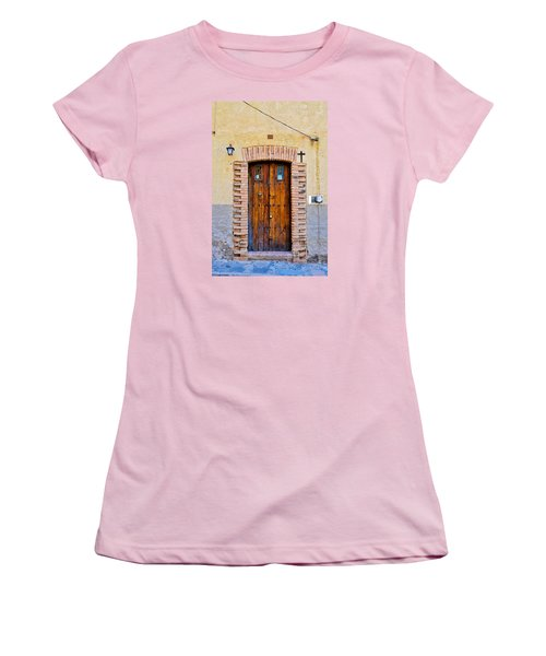 Old Wooden Door - Mexico - Photograph By David Perry Lawrence Women's T-Shirt (Junior Cut) by David Perry Lawrence