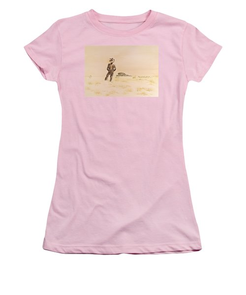 Women's T-Shirt (Junior Cut) featuring the painting Out There by Michele Myers