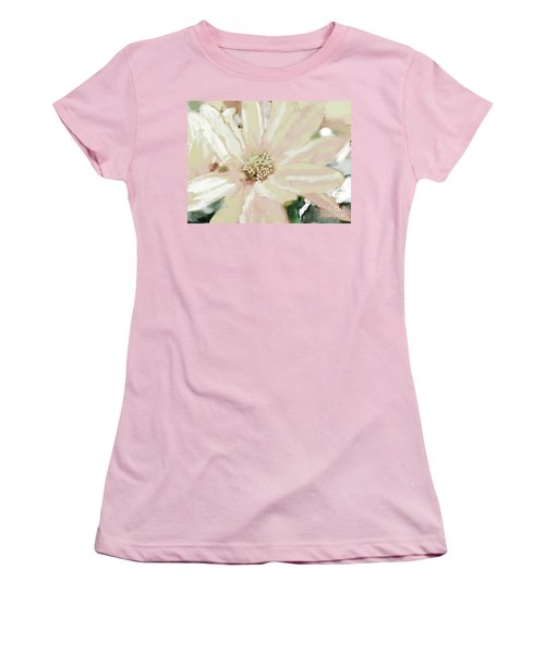 Pastel Daisy Photoart Women's T-Shirt (Athletic Fit)