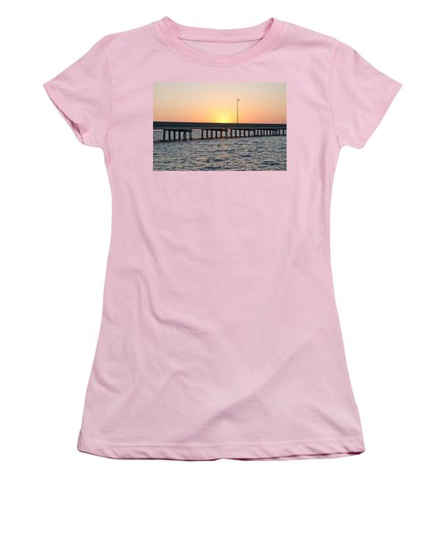 Peace River Bridge - Punta Gorda Florida Women's T-Shirt (Athletic Fit)