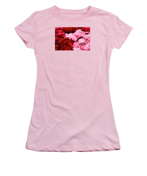 Pink And Red Women's T-Shirt (Junior Cut) by Menachem Ganon