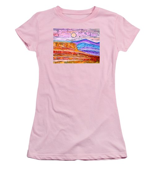 Pink Women's T-Shirt (Athletic Fit)