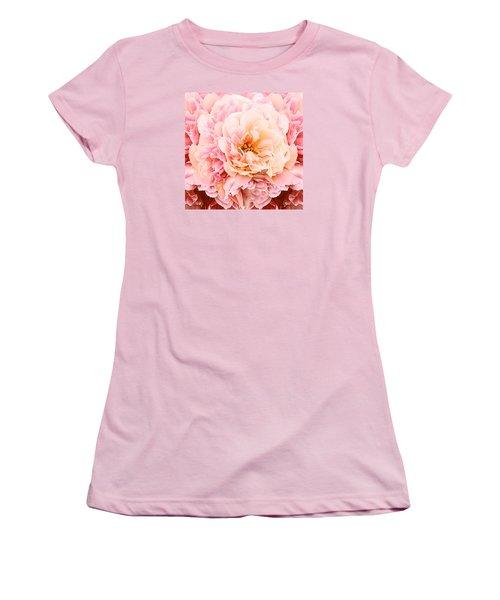 Pink Peony Women's T-Shirt (Junior Cut) by Michele Avanti