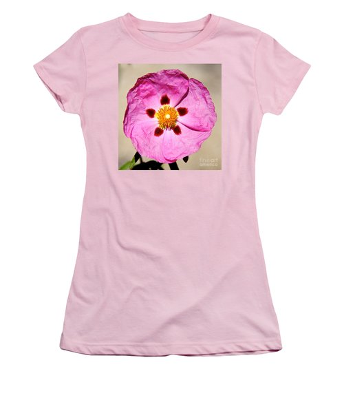 Pink Rock Rose Women's T-Shirt (Athletic Fit)