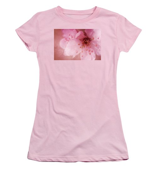 Women's T-Shirt (Junior Cut) featuring the photograph Pink Spring Blossom by Ann Lauwers