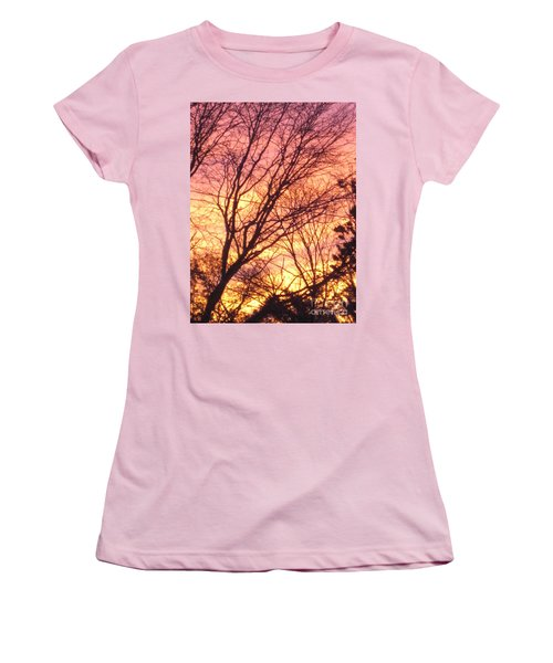 Pink Twilight Women's T-Shirt (Athletic Fit)