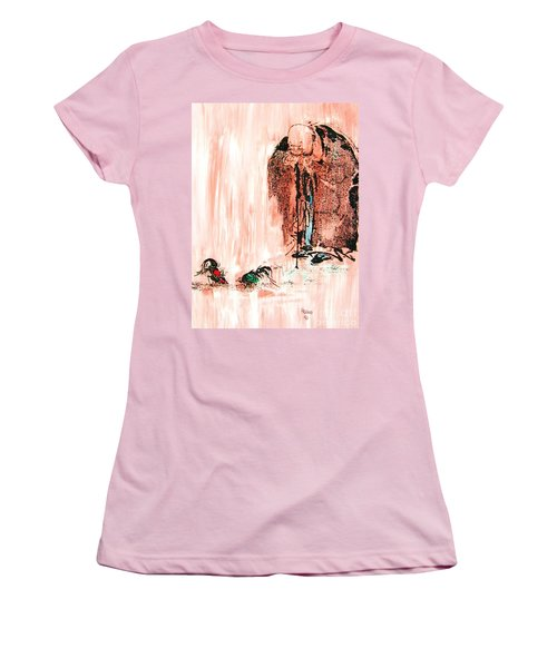 Pondering Aggression Women's T-Shirt (Junior Cut) by Roberto Prusso
