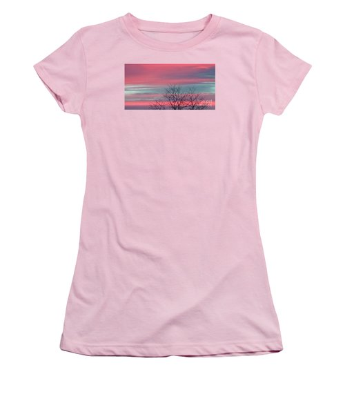 Pretty In Pink Sunrise Women's T-Shirt (Athletic Fit)