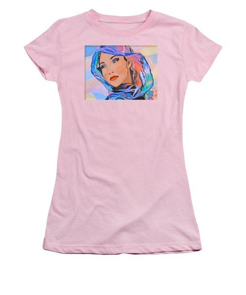 Pretty Lady Women's T-Shirt (Junior Cut) by Phyllis Kaltenbach