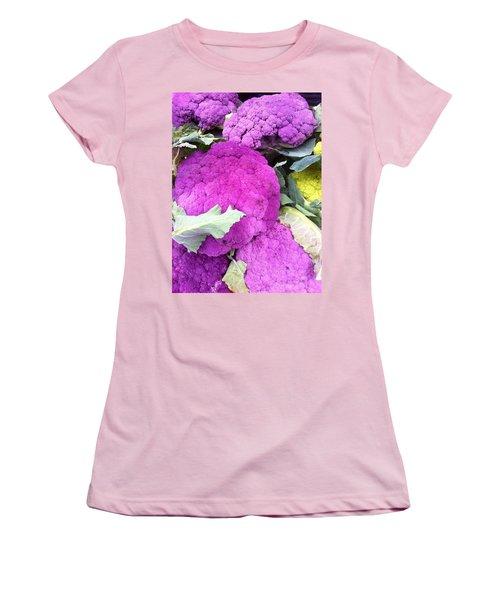 Purple Cauliflower Women's T-Shirt (Athletic Fit)