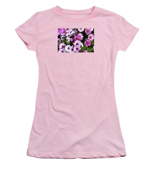 Purple Daisy Women's T-Shirt (Athletic Fit)