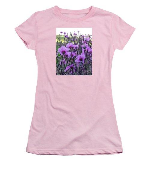 Women's T-Shirt (Junior Cut) featuring the photograph Purple Field by Jasna Gopic