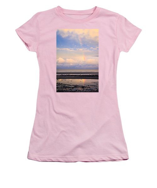 Women's T-Shirt (Junior Cut) featuring the photograph Rainbow Over Bramble Bay by Peta Thames