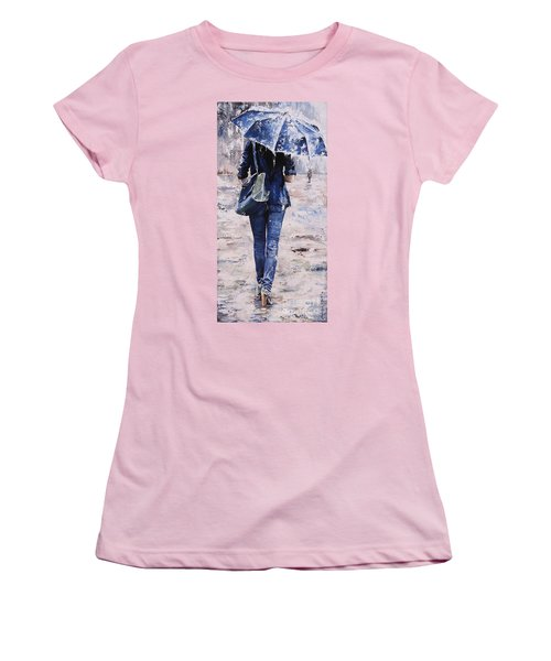 Rainy Day #22 Women's T-Shirt (Junior Cut) by Emerico Imre Toth