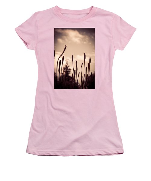 Flowers Reaching For The Sky Women's T-Shirt (Junior Cut) by Brian Caldwell