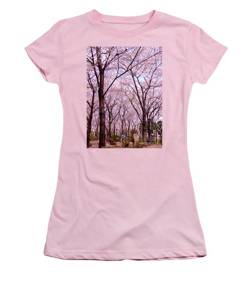 Women's T-Shirt (Junior Cut) featuring the photograph Sakura Tree by Andrea Anderegg