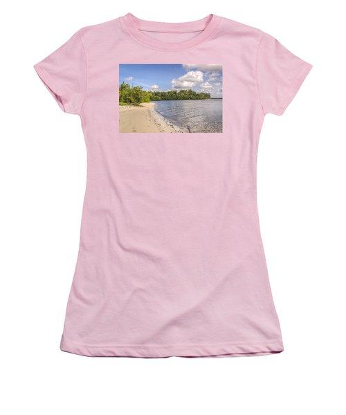 Women's T-Shirt (Junior Cut) featuring the photograph Sandy Beach by Jane Luxton