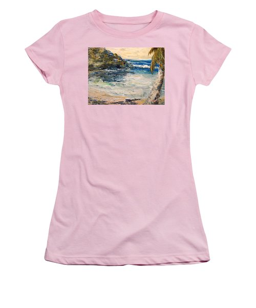 Women's T-Shirt (Junior Cut) featuring the painting Saturday Afternoon  by Alan Lakin