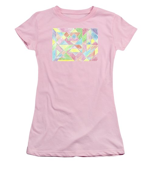 Shapes Of Colour Women's T-Shirt (Athletic Fit)